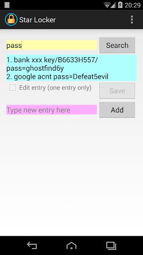 Star lock password protection