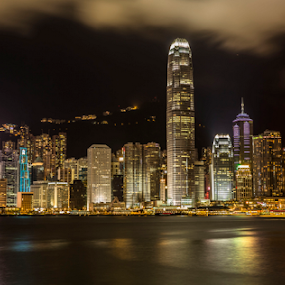 Lights .... by Happy Sugianto - City,  Street & Park  Skylines ( canon, hongkong, buildings, photooftheday, river, china )