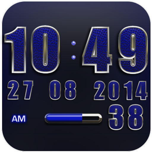 Clock Widget Blue Elephant
