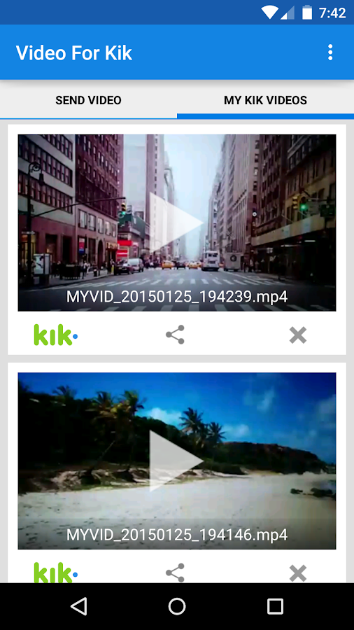 Video For Kik- screenshot