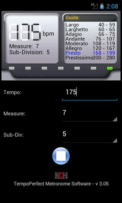 TempoPerfect Metronome Free – Screenshot