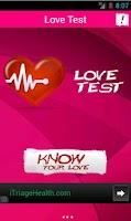 Screenshot of Love Test