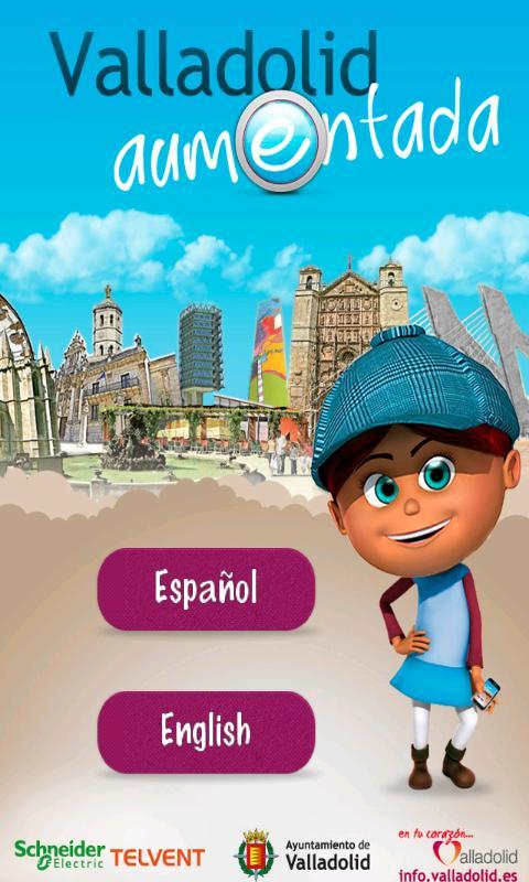 Valladolid Aumentada: captura de pantalla