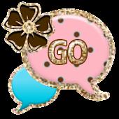 GO SMS - Pastel Dot Gold