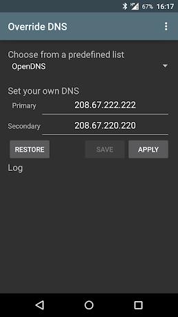 Override DNS (a DNS changer) 5.2.2-0-ge301302 APK
