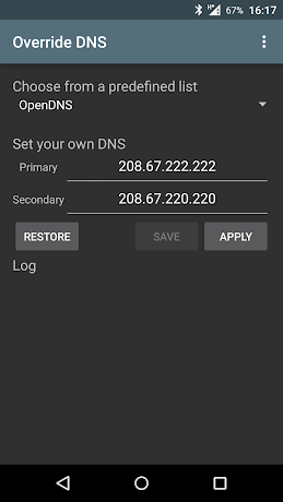 Override DNS (a DNS changer) 5.2.0-0-g316610d APK