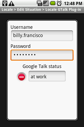 Locale GTalk Plug-in - screenshot