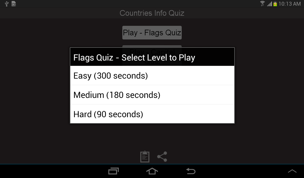 Countries Capital Flag Quiz - screenshot