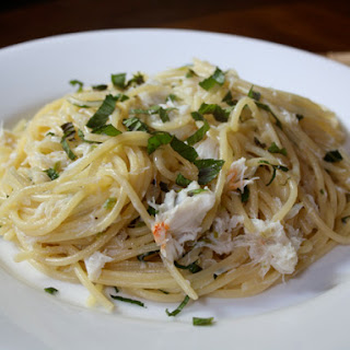 Spaghetti with Crab, Chile, and Mint