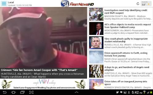 WAAY TV App for Android - screenshot thumbnail