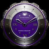 Dragon Clock Widget purple