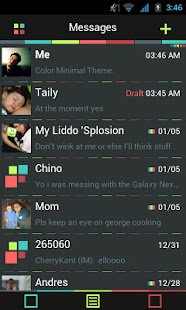 Go SMS Theme Color Minimal - screenshot thumbnail
