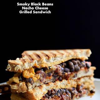 Smoky Black Bean Nacho Cheese Sandwich. Vegan.