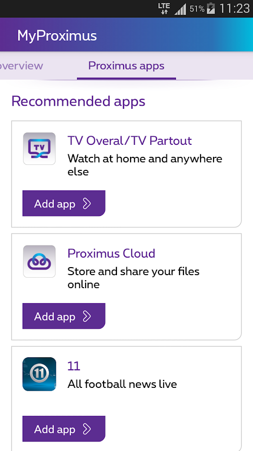 MyProximus- screenshot