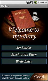 my-diary.org - a free diary- screenshot thumbnail