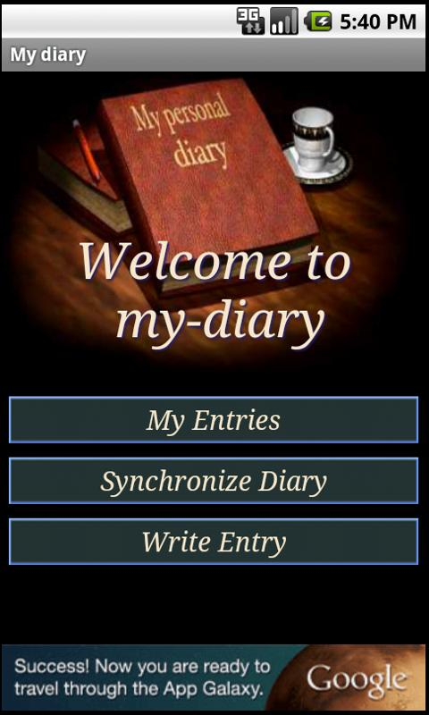 my-diary.org - a free diary- screenshot