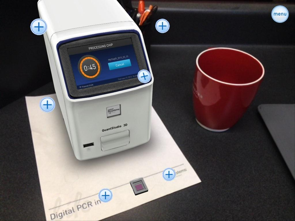 Digital PCR in 3D - screenshot