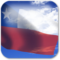 3D Chile Flag + icon
