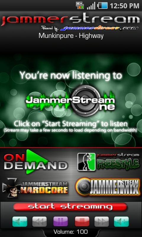 JammerStream Radio - screenshot