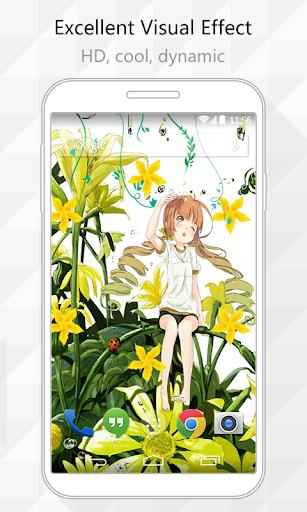Flowers Girl Live Wallpaper