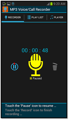 Automatic Call Recorder MP3 - screenshot