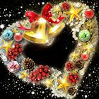 Xmas*Heart*Wreath SG LWP icon