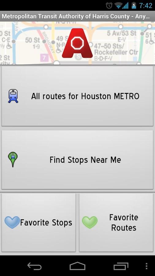Houston METRO: AnyStop - screenshot