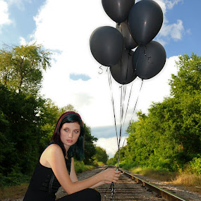 On the Tracks by Kenny Fendler - People Portraits of Women