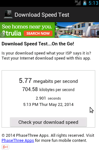 how to test xplorenet download speed
