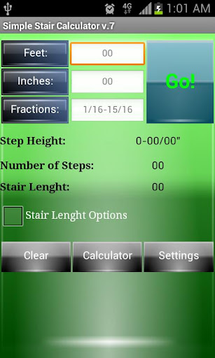 Simple Stair Calculator