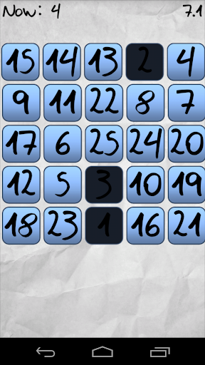 Touch the Blue Numbers