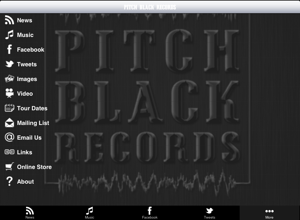 Pitch Black Records- screenshot