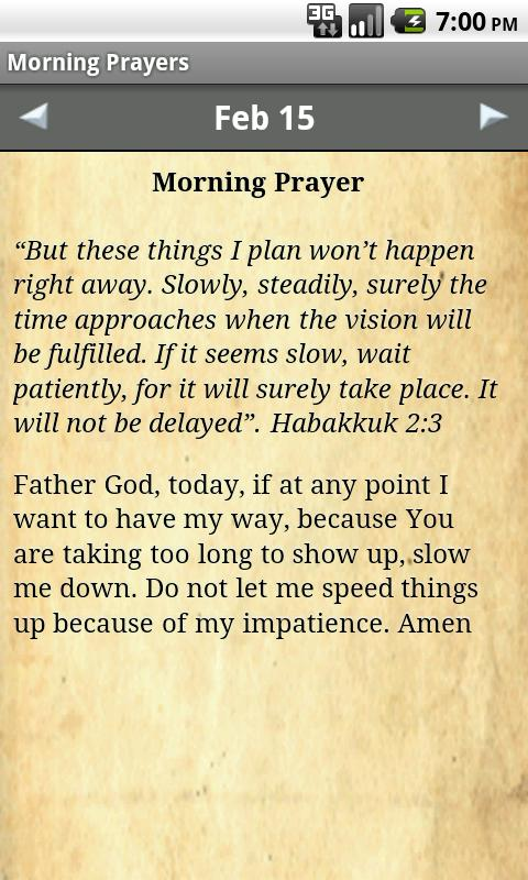 Morning Prayers Devotional - screenshot