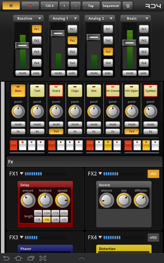 RD4 Groovebox Demo - screenshot