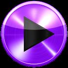 Poweramp skin 紫色金属 icon