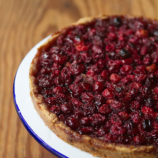 Cranberry Tart with Nut Crust