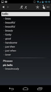 Dictionary Italian English - screenshot thumbnail