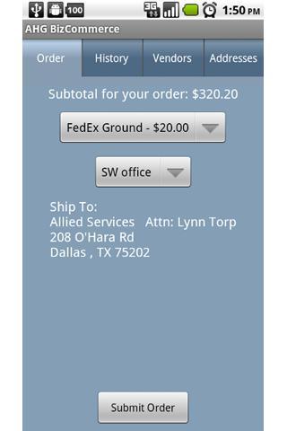 QRwave: B2B mobile commerce- screenshot