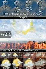 Animated Weather Widget&Clock