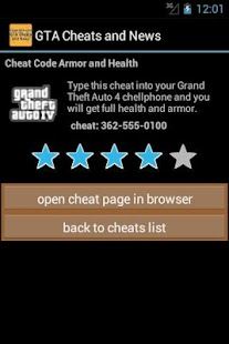 GTA Cheats and News - screenshot thumbnail