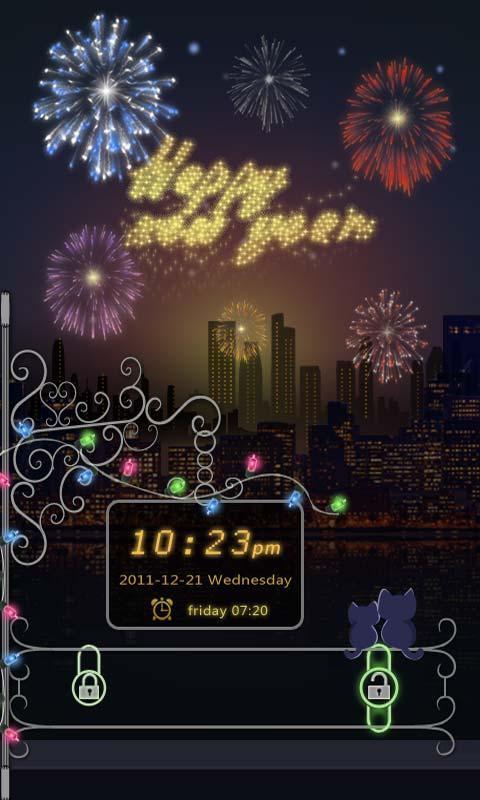 GO Locker Happy New Year Theme - screenshot