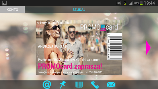 PROMOcard - screenshot thumbnail