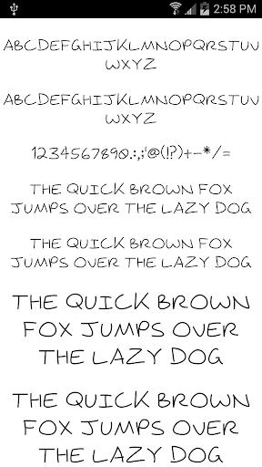 Fonts for FlipFont 18