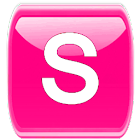 Pink /W Socialize for Facebook icon