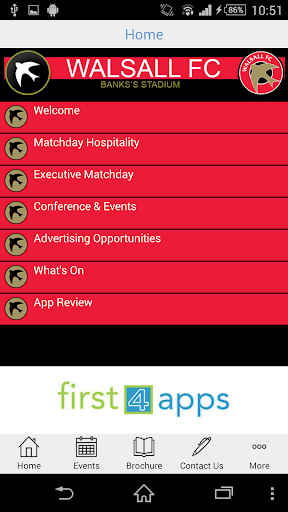 Walsall FC Conference Events