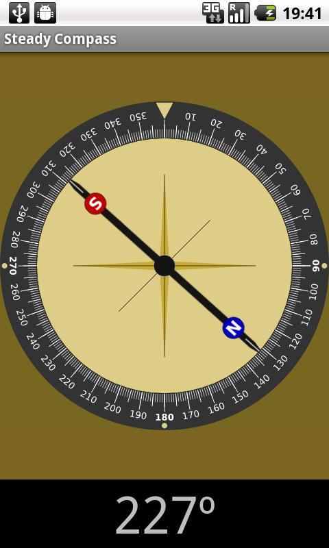 Steady compass- screenshot