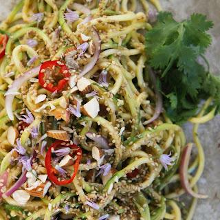 Thai Zucchini Noodle Salad.