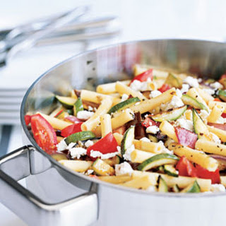 Roasted-Vegetable and Feta Ziti.
