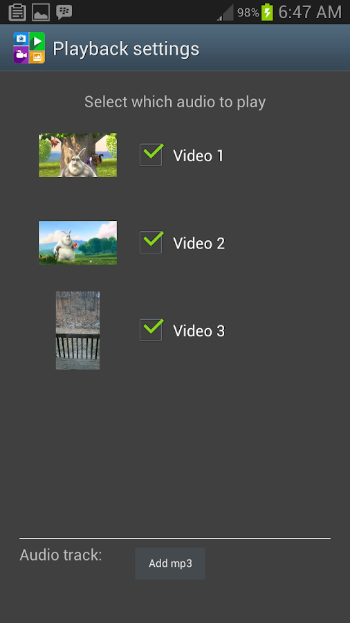 Video Collage (VideoWhiz)- screenshot