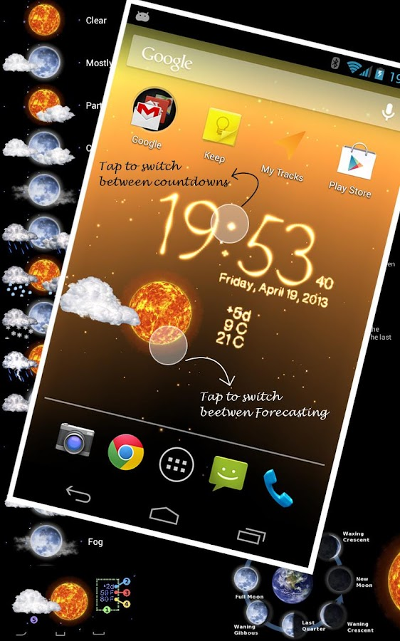 Weather Live Wallpaper - screenshot
